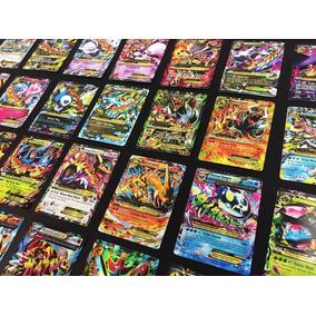 Lote Cartas Pokemon 100 Cartas + 10 Raras + 1 Carta Mega Ex
