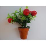Mini Vaso Decorativo De Frutas Artificiais - Consulte Frete
