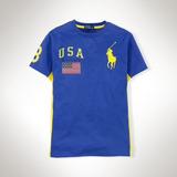 Polo Ralph Lauren Juvenil Camiseta Ocean Challenge Usa!!xl