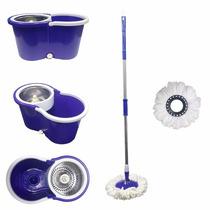 Balde Spin Mop Centrifuga Inox Esfregão - Roxo- Melhor Preço