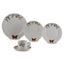 Aparelho De Jantar De Porcelana Delicate 20 Peças - Lyor