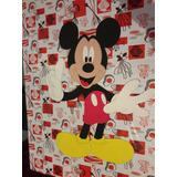 Magia Con Goma Eva Md: Figura De Mickey Y Cartel Bienvenida