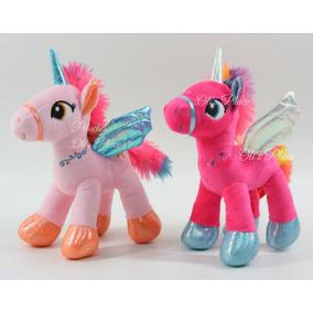 Unicornio De Peluche Con Alas Pony 20 Cm Importado