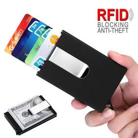 Porta Cartões De Crédito Premium Antrfid Minimalista Pop-up