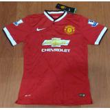 Camisa Oficial Manchester United 2014 G Nº 9 Hawk (falcão)