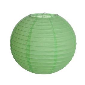 Lanterna Redonda Sem Luz Verde 15cm 01 Cromus