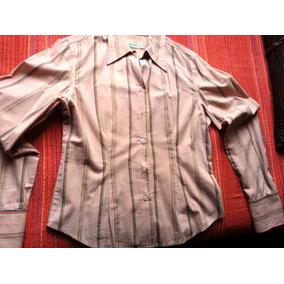 Camisa Dama. M. Importada. Color: Rosa Clara (a Rayas).