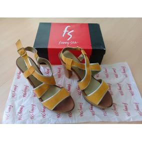 Sandalias Color Mostaza Talla 40 Fanny Stile