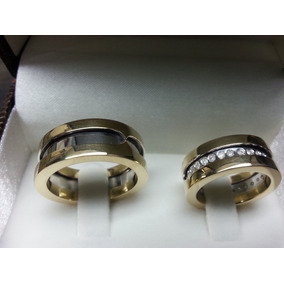608a5bf1cea Par Aliança Bvlgari Dourada - Joias e Relógios no Mercado Livre Brasil