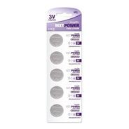 Kit Pilha Bateria Lithium Mxt Power 3volts Cr2032 5 Unidades