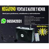 Megafono Amplificador De Voz Recargable