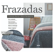 Frazada Palette Corderito Estampado 1 1/2 Plaza Renoir Soft