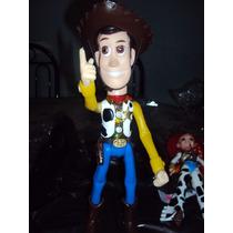 Lote De 2 Figuras Buzz Y Woody De Toy Story Con Luz