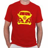 Camiseta Kombi Masculina - Algodão - Carros Antigos Feira
