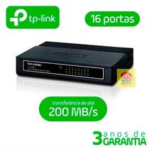 Switch Internet 16 Portas Tp-link 10/100 20/200 Mbps Suite