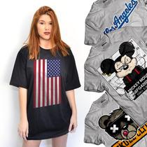 Camisetas Femininas Estilo Vestidinho Swag Rihanna Anitta