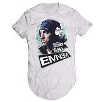 Camisa Camiseta Longline Eminem Rap Player7 Thug Life