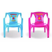 Cadeira Poltrona Plástica Infantil Creche Escola - Kit 4 Un