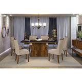 Conjunto Mesa Com 6 Cadeiras Dj Móveis Itália - Rústico/malb