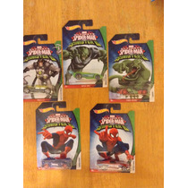 Set De Hot Wheels Ultimate Spiderman Completo 5 Carros 2016