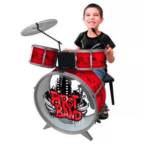 Bateria Musical Para Niños First Band Envios!! Azul O Roja