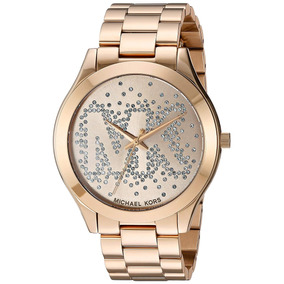 e6e89794ebac7 Michael Kors Mk5055 Womens Mk5055 Gold Runway Watch Feminino ...