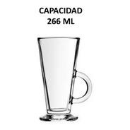 Taza Para Capuchino De Vidrio Cap. 266 Ml 6 Pz Incluye Envío