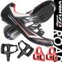 Venzo Road Bike Para Shimano Spd Sl Look Ciclismo Zapatos Y