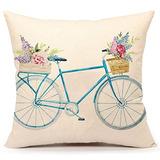 Acuarela Retro Bicicletas Y Flores Inicio Diseño Decoración