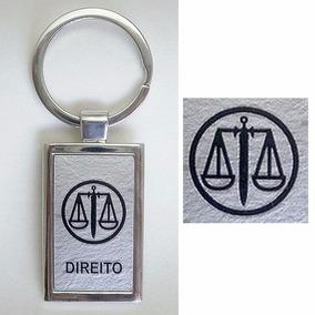 Chaveiro Direito Metal Advogado Símbolo Profissão Profissões