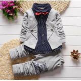 Pantalón, Camisa, Chaqueta Conjunto Niño Elegante, Corbatín