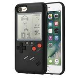 Funda Game Boy Pocket Tetris Negra Iphone 6/6s Plus /7/7plu