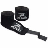Bandagem Atadura Elastica Muay Thai Boxe Muvin Preta