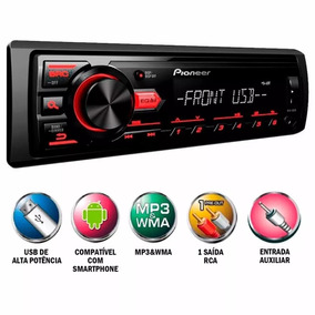 Mp3 Media Player Automotivo Pioneer Mvh-88ub Usb Am Fm Aux