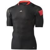 Camisa Térmica Compressão adidas Preta Vermelha Tam G
