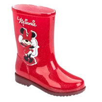 Galocha Bota Infantil Minnie Fashion Glittler Disney Clique+