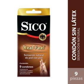 Cartera 9 Condones Sin Latex Lubricados Sico Real Feel