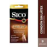 Cartera 9 Condones Sin Latex Lubricados Sico Real Feel