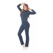 Jean Plus Size Gran Jeans Tiro Alto Bota Recta