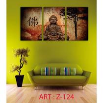 Cuadros Modernos Tripticos Buda Decorativos 103 X 56