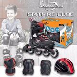 Patines En Linea Rollerblade Ajustables 4 Tallas+casco+prote