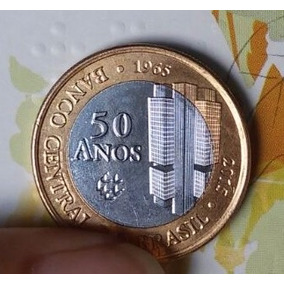 Moeda Comemorativa 50 Anos Banco Central Mbc