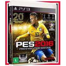 Pes 2016 Br Futebol Português Ps3 Blu-ray Midia Fisica Origi