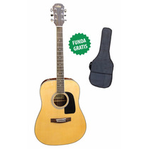 Guitarra Acústica Aria Ad18 Natural + Funda