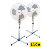 2 Ventilador Pedestal Pé Haida/clink 40cm - 127v - Potente
