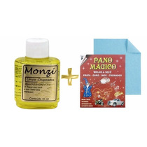 Limpa Joias Prata Ouro Chapeado Monzi 35ml + Pano Mágico