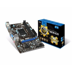 Placa Mãe Msi Intel Lga 1150 Matx H81m - E 33 Military Class