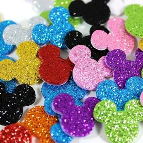 100 Piercings Adesivos Pet Shop Eva Com Glitter Mickey Pp