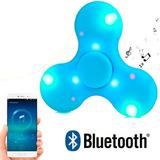 12 Piezas Fidget Spinner Bluetooth Parlante Luz Led Spiner