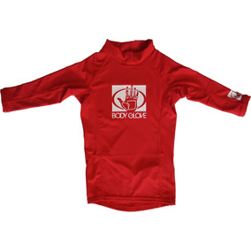 Remera Niño Lycra Proteccion Uv Body Glove Roj Secado Rádido
